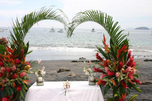 Destination weddings beach wedding altar playa ocotal guanacaste beach wedding altar playa ocotal guanacaste junglespirit Images